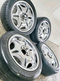 4 17 in 4x100 4x114.3 wheels rims and tires. 2 brand new tires. the ot Germantown