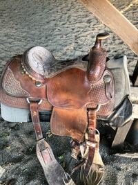 brown and black leather horse saddle Vacaville, 95687