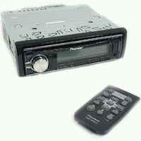 black Pioneer 1-DIN car stereo head unit West Sacramento, 95691