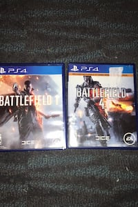 Battlefield 1 and battlefield 4 for ps4