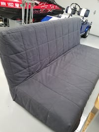 Ikea sleeper sofa with storage area underneath and cover Lake Tapps