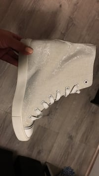 Silver Shimmery High Tops Wedge Toronto, M9B 2C6