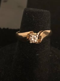 14K Yellow Gold, 0.33 CWT Diamond Ring Edmonton, T6H