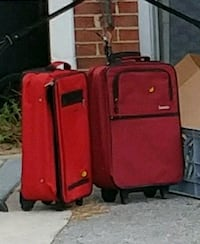 red and black luggage bag White Post, 22663