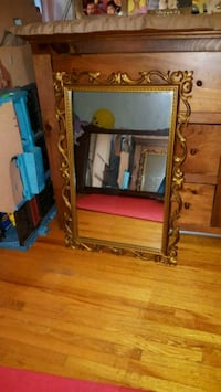 brown wooden framed wall mirror Toronto, M3H