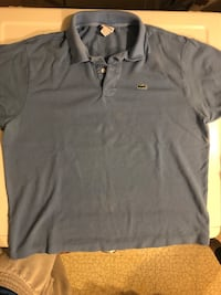 Blue/Gray Lacoste Polo size 7 (XL Potomac, 20854