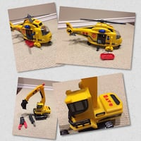 Caterpillar construction set or Tonka Rescue Helicopter  Ajax, L1T 0A9
