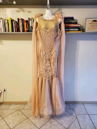 Hand made blush gown