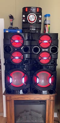 black and red subwoofer speaker Washington, 20024