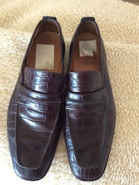 Cole Haan brown leather slip on shoes obo