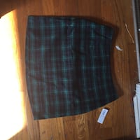 green and blue plaid textile