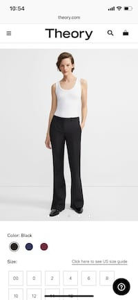 Theory Good Wool flare dress pant trousers  •size 2