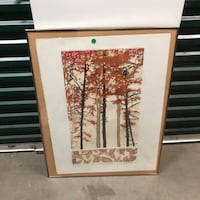 Autumn pines  [TL_HIDDEN]  painting 24x32 Los Angeles, 91331