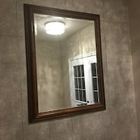 Excellent condition wall mirror big size 46 long 36 wide inches.  Brampton, L7A
