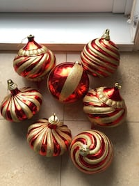 Plastic Christmas ornaments