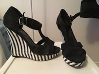 Black and White Wedge Heels Montreal, H1W