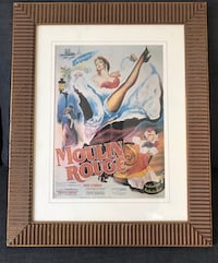 Framed Moulin Rouge Movie Poster Boston, 02118