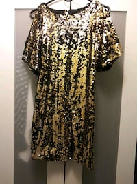 Gold & Black Sequins Dress. Size: small 69 km