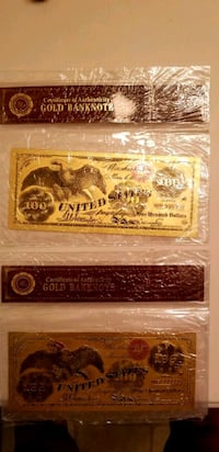 100$ Gold banknotes (5$ each)