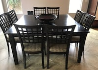 contemporary dining set with 8 chairs
