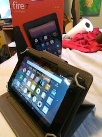 Amazon Fire 7 with Alexa and case