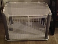 IRIS Pet Wire Dog Crate with Mesh Roof, Gray, Small Haddon Township, 08108