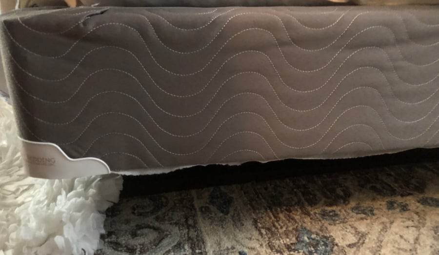 Queen Mattress with box springs and metal frame c3109c51-2891-4c12-bba4-7b49dd219e9a