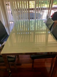 Dining table and 4 leather chairs  Annandale, 22003
