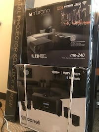 Home Theater System Ultra HD Projector and Sound System