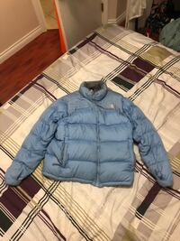 blue The North Face puffer jacket Vancouver, V5W 2E7