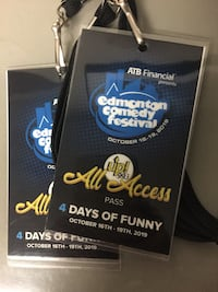 2 VIP all access passes to Edmonton's Comedy Festival  Edmonton, T5Y