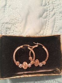 Yellow gold, Rose gold, and silver Hoop earrings. Worn only couple of times and perfect condition. Wonderful jewelry to add to anyone's Jewelry Oklahoma City, 73099