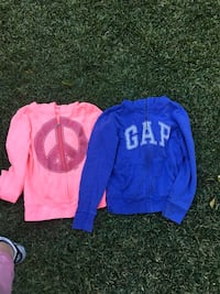 GAP and Justice zip up sweaters size (8-12) runs small(8-9 Los Angeles, 90039