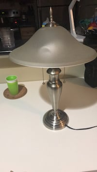 Gray and white table lamp  Charlotte, 28262