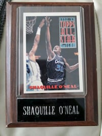 Shaquille O'Neil card on a Solid Wood Frame Dallas, 28034