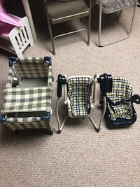 3 piece doll set swing, car seat, & pack n play in great condition all 3 pieces for $25 Egg Harbor Township, 08234