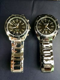 two round silver-colored analog watches Jersey City, 07306