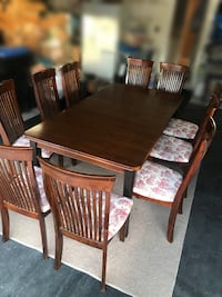 Newly reupholstered Dining Room Set with 10 chairs, OBO