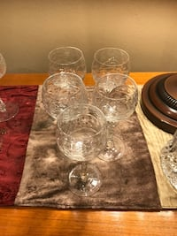 clear cut glass punch bowl set Los Angeles, 91401