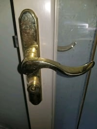 Trade Brass Storm Door Handle locking Oklahoma City