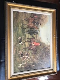 Fox Hunt, DeNunzio hand crafted replica oil painting Purcellville, 20132