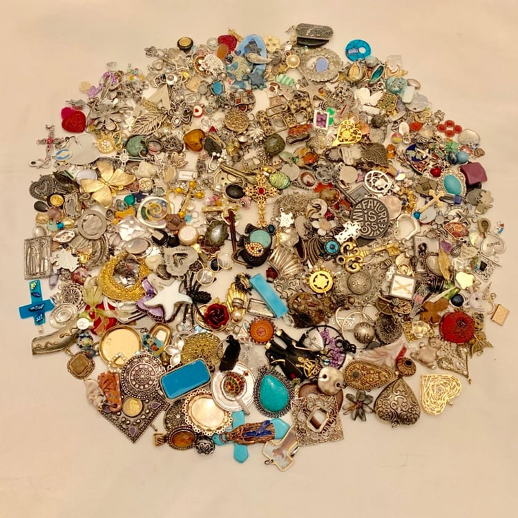 Cross and Pendant Lot Silver Gold Enamel Fashion Costume Jewelry Mixed