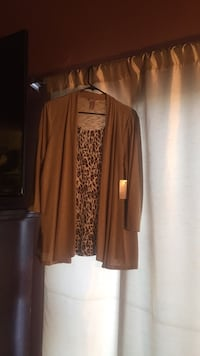 Brown and white long-sleeved shirt Lancaster, 93535