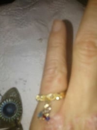 gold filled with dangle charm ring