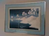 glacier mountain painting with gray frame Milpitas, 95035