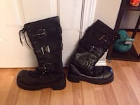 Hot topic black boots. Some wear on the top of boot.  Size 12 Johnson City, 37601