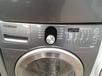 gray Samsung front-load washing machine null