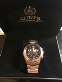 New in Box, Citizen Men's Eco-Drive Signature Chronograph Watch with and Alarm, BL5460-51E New York, 11204