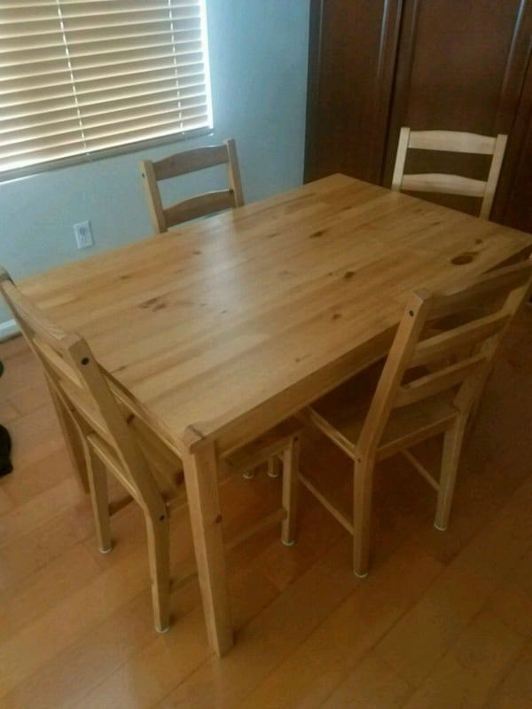 Used IKEA Jokkmokk table and 4 chairs for sale in Huntington Beach