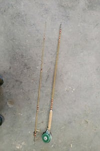 Shakespeare Fly fishing rod & reel automatic 1821 vintage